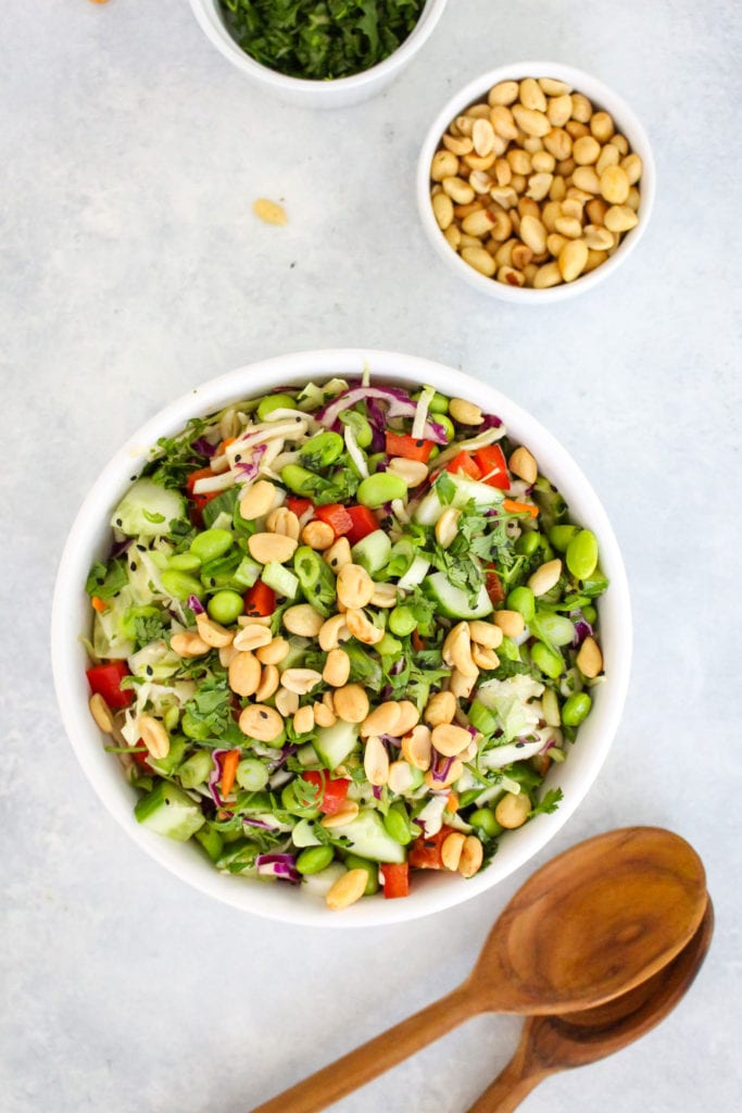 Easy Asian Cabbage Slaw with Ginger Dressing Recipe | FitLiving Eats by Carly Paige